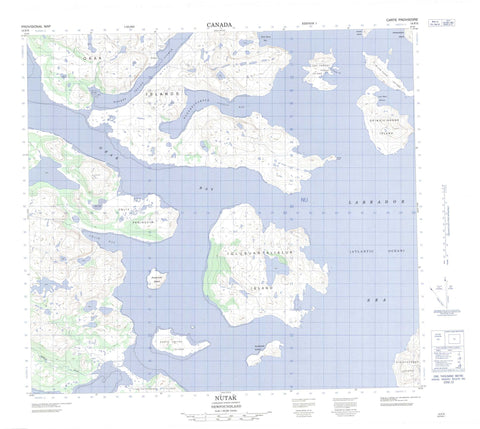 014F05 Nutak Canadian topographic map, 1:50,000 scale