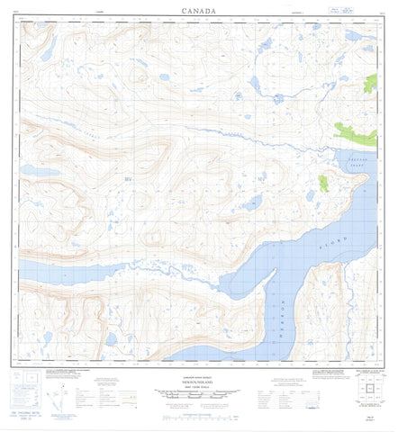 014L03 No Title Canadian topographic map, 1:50,000 scale