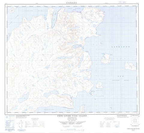 014L07 Cape Uivak Fish Island Canadian topographic map, 1:50,000 scale