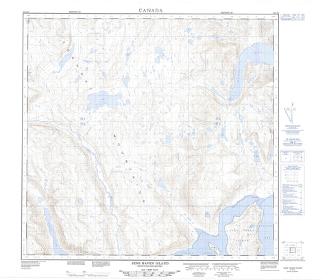 014L11 Jens Haven Island Canadian topographic map, 1:50,000 scale