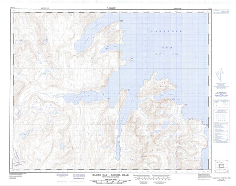 014L14 Ramah Bay Reichel Head Canadian topographic map, 1:50,000 scale