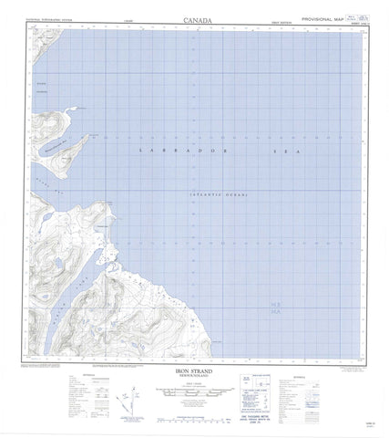 014M12 Iron Strand Canadian topographic map, 1:50,000 scale