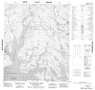 016E04 Aktijartukan Fiord Canadian topographic map, 1:50,000 scale