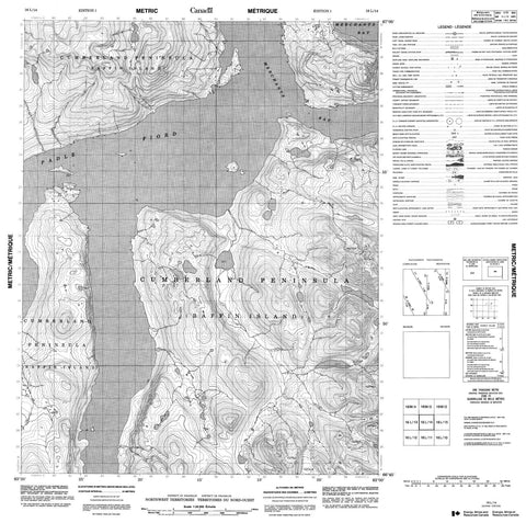 016L14 No Title Canadian topographic map, 1:50,000 scale