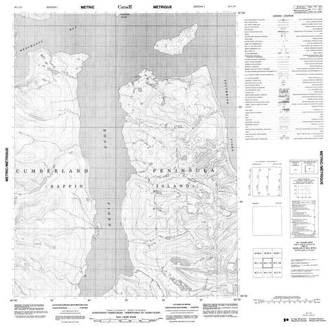 016L15 No Title Canadian topographic map, 1:50,000 scale