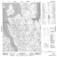 016L16 St Roch Harbour Canadian topographic map, 1:50,000 scale