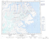 016L Cape Dyer Canadian topographic map, 1:250,000 scale