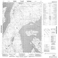 016M03 Duck Islands Canadian topographic map, 1:50,000 scale