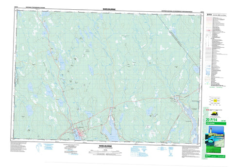 020P14 Shelburne Canadian topographic map, 1:50,000 scale
