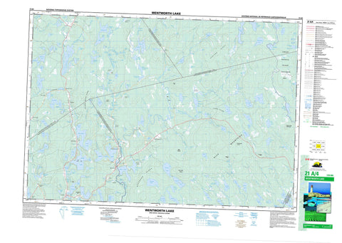 021A04 Wentworth Lake Canadian topographic map, 1:50,000 scale
