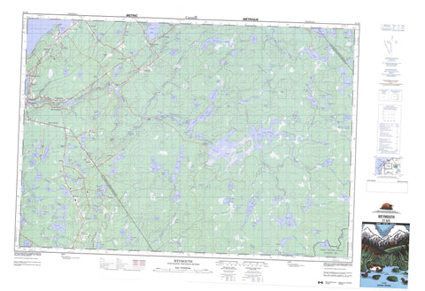 021A05 Weymouth Canadian topographic map, 1:50,000 scale