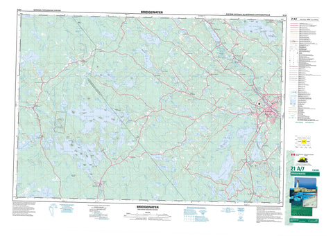 021A07 Bridgewater Canadian topographic map, 1:50,000 scale