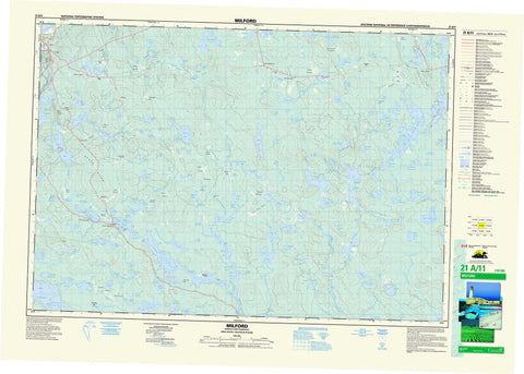 021A11 Milford Canadian topographic map, 1:50,000 scale