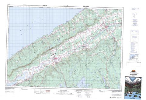 021A14 Bridgetown Canadian topographic map, 1:50,000 scale