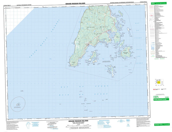 021B10 Grand Manan Island Canadian topographic map, 1:50,000 scale