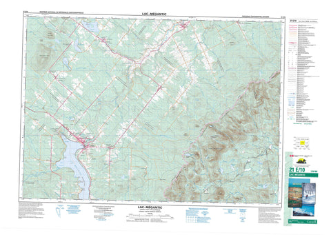 021E10 Lac Megantic Canadian topographic map, 1:50,000 scale