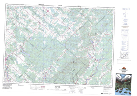 021E12 Wotton Canadian topographic map, 1:50,000 scale