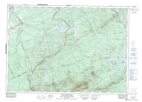 021E16 Saint Theophile Canadian topographic map, 1:50,000 scale