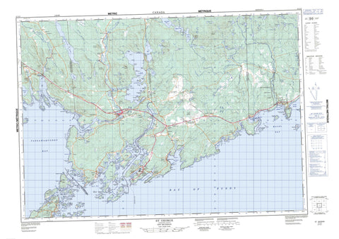 021G02 St George Canadian topographic map, 1:50,000 scale