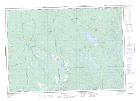 021G07 Mcdougall Lake Canadian topographic map, 1:50,000 scale