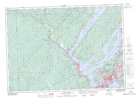 021G08 Saint John Canadian topographic map, 1:50,000 scale