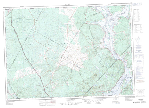 021G09 Hampstead Canadian topographic map, 1:50,000 scale