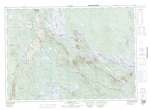 021G12 Forest City Canadian topographic map, 1:50,000 scale