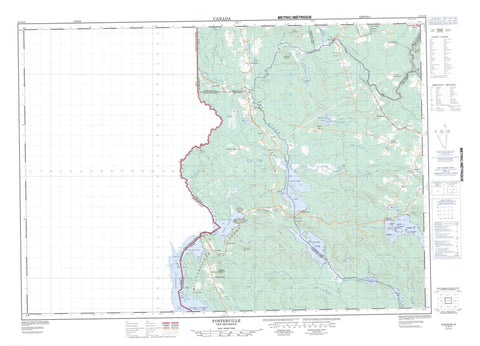 021G13 Fosterville Canadian topographic map, 1:50,000 scale