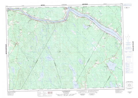 021G14 Canterbury Canadian topographic map, 1:50,000 scale