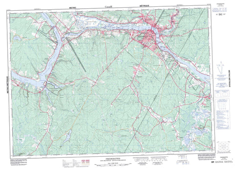 Buy Fredericton topo map 021G15 YellowMaps Map Store