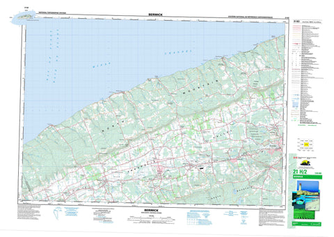 021H02 Berwick Canadian topographic map, 1:50,000 scale