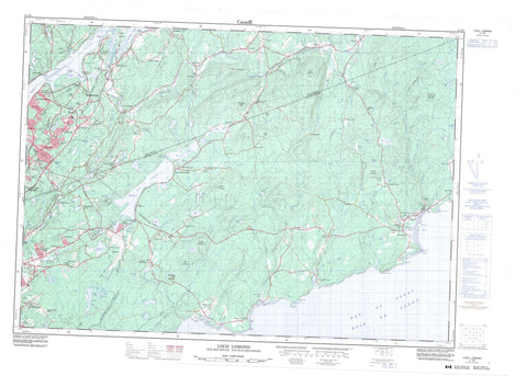 021H05 Loch Lomond Canadian topographic map, 1:50,000 scale