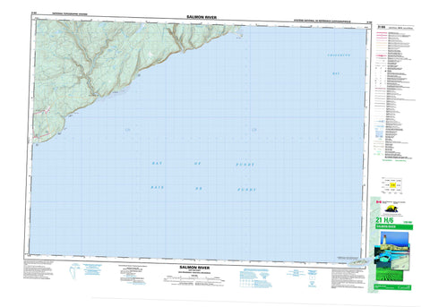 021H06 Salmon River Canadian topographic map, 1:50,000 scale