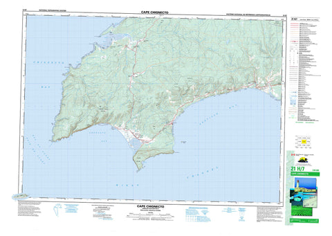 021H07 Cape Chignecto Canadian topographic map, 1:50,000 scale