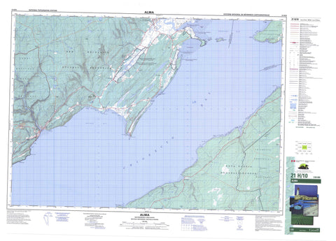 021H10 Alma Canadian topographic map, 1:50,000 scale