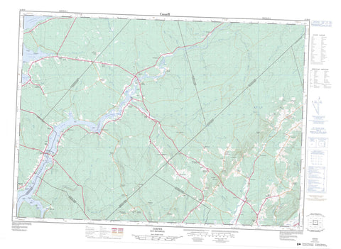 021H13 Codys Canadian topographic map, 1:50,000 scale
