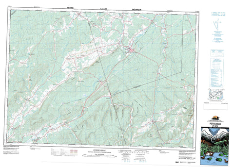 021H14 Petitcodiac Canadian topographic map, 1:50,000 scale
