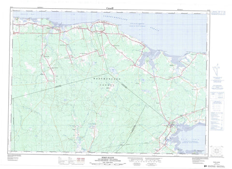 021I01 Port Elgin Canadian topographic map, 1:50,000 scale