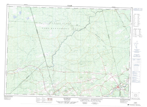 021I03 Salisbury Canadian topographic map, 1:50,000 scale