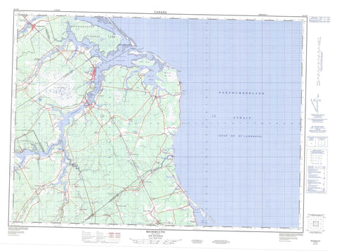 021I10 Richibucto Canadian topographic map, 1:50,000 scale