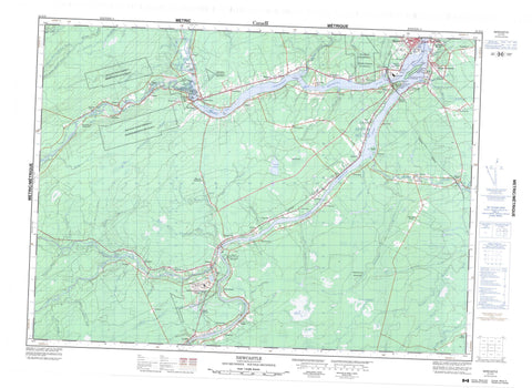 021I13 Newcastle Canadian topographic map, 1:50,000 scale