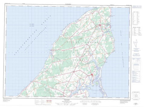 021I16 Tignish Canadian topographic map, 1:50,000 scale
