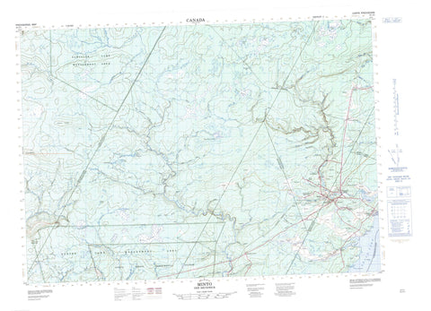 021J01 Minto Canadian topographic map, 1:50,000 scale
