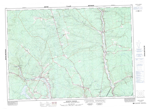 021J02 Burtts Corner Canadian topographic map, 1:50,000 scale