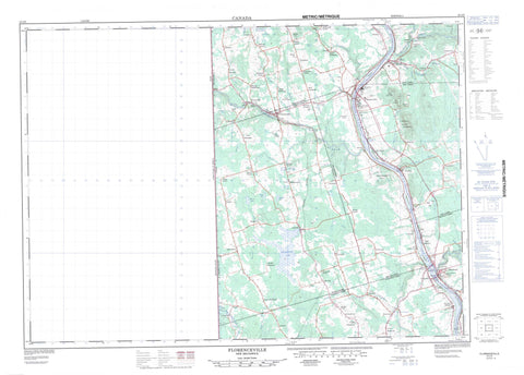 021J05 Florenceville Canadian topographic map, 1:50,000 scale