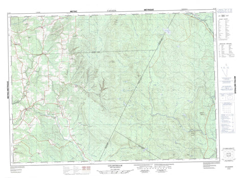 021J06 Coldstream Canadian topographic map, 1:50,000 scale