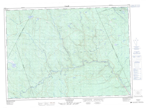021J10 Hayesville Canadian topographic map, 1:50,000 scale