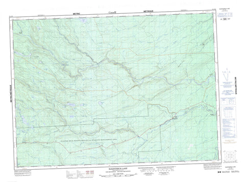 021J16 Mckendrick Lake Canadian topographic map, 1:50,000 scale