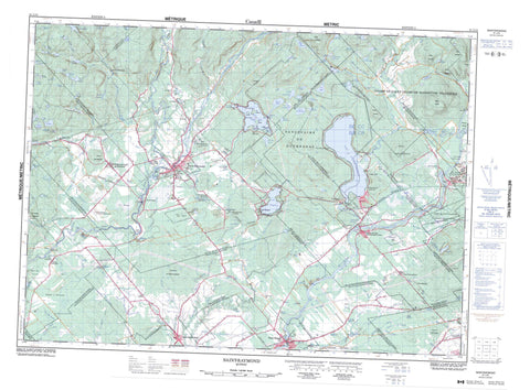 021L13 Saint Raymond Canadian topographic map, 1:50,000 scale