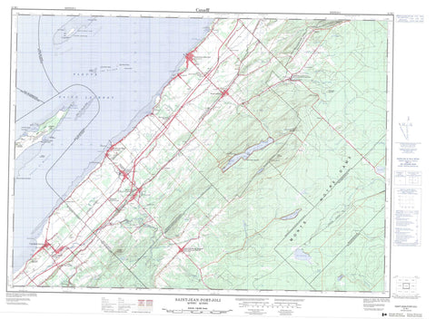 021M01 Saint Jean Port Joli Canadian topographic map, 1:50,000 scale